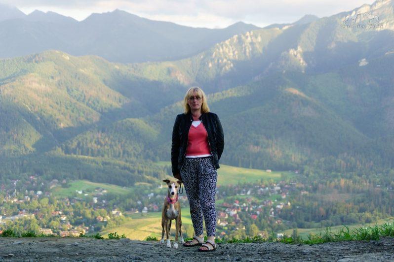 Na Gubałówce z widokiem na Tatry
